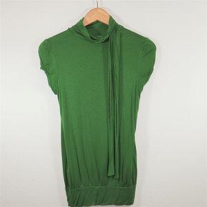 Twenty one Green top w/ bow at neck, size Medium